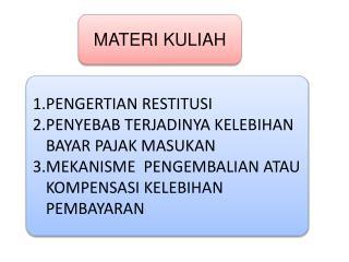 MATERI KULIAH