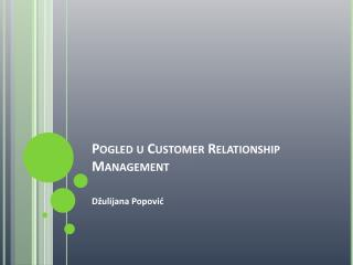 Pogled u Customer Relationship Management