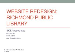 Website Redesign: Richmond Public Library