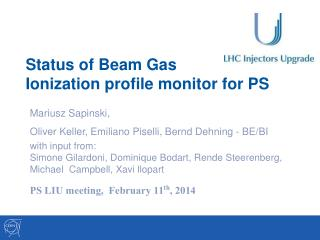Status of Beam  Gas  Ionization profile monitor  for PS