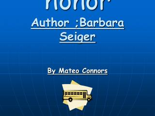Matter of honor Author ;Barbara Seiger