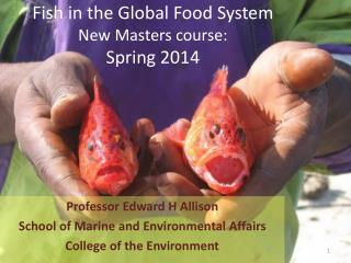 Fish in the Global Food System New Masters course:  Spring 2014