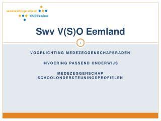 Swv  V(S)O Eemland