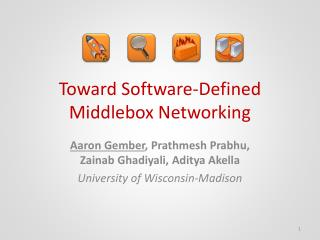 Toward Software-Defined Middlebox Networking