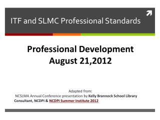 ITF and SLMC Professional Standards