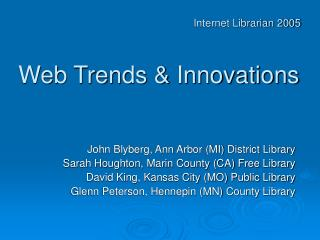 Web Trends & Innovations