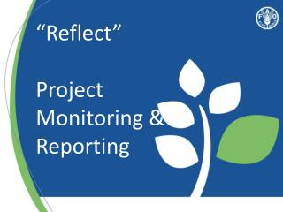 """Reflect"" Project Monitoring &  Reporting"