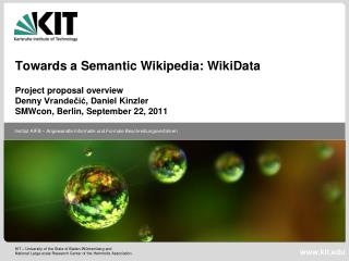 Towards a Semantic Wikipedia:  WikiData