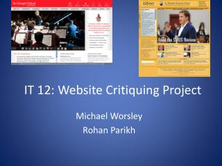 IT  12 : Website Critiquing Project