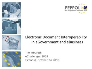 Electronic Document Interoperability in  eGovernment  and  eBusiness