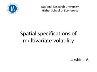 Spatial specifications of multivariate volatility