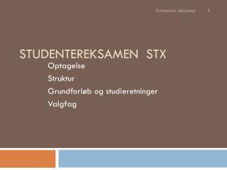 Studentereksamen  STX