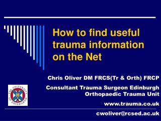 How to find useful trauma information on the Net