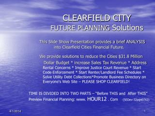 CLEARFIELD CITY FUTURE PLANNING  Solutions