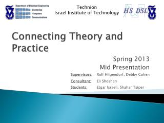 Connecting Theory and Practice