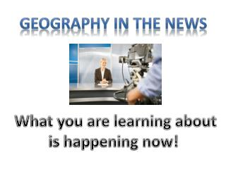 What you are learning about is happening now!