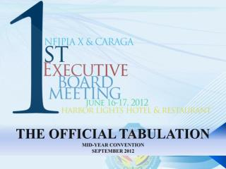 THE OFFICIAL TABULATION MID-YEAR CONVENTION SEPTEMBER 2012