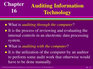 Auditing Information Technology