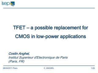 TFET – a possible replacement for CMOS in low-power applications
