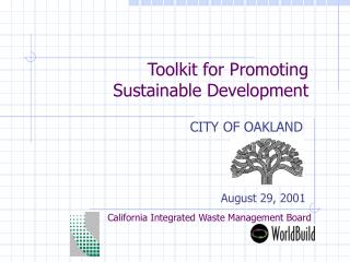 Toolkit for Promoting  Sustainable Development
