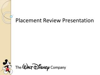 Placement Review Presentation