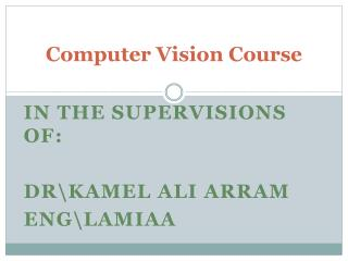 Computer Vision Course