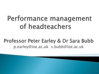Performance management of  headteachers