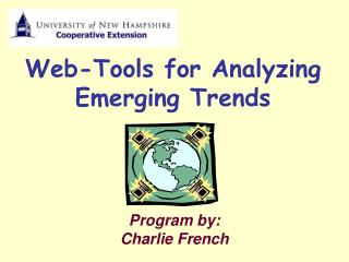 Web-Tools for Analyzing Emerging Trends