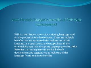 John Pereless