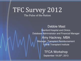 TFC Survey 2012 The Pulse of the Nation