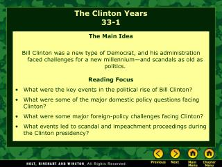 The Clinton Years 33-1