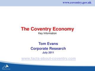 The Coventry Economy Key Information