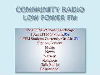 Community Radio low Power Fm