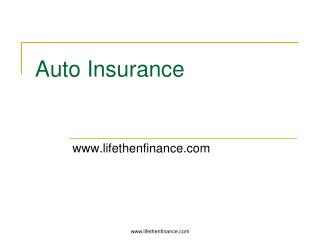 Auto insurance - Renters Insurance
