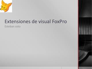 Extensiones de visual FoxPro