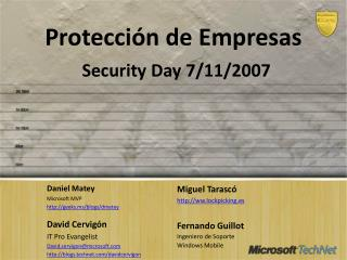 Protección de  Empresas Security  Day  7/11/2007