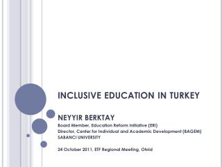 inclusive education in turkey