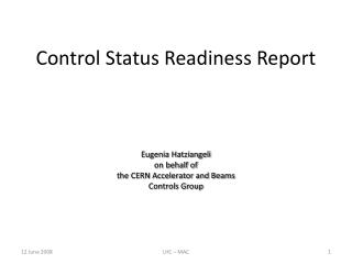 Control Status Readiness Report