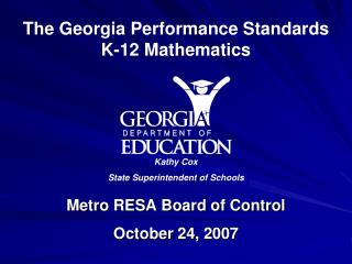 Metro RESA Board of Control October 24, 2007