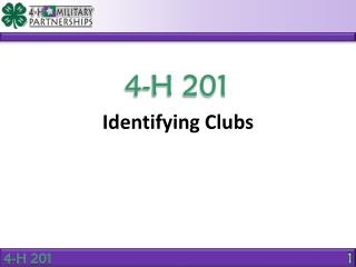 Identifying Clubs