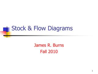 Stock & Flow Diagrams