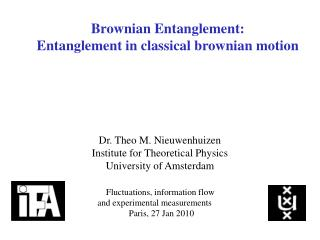 Brownian Entanglement: Entanglement in classical brownian motion
