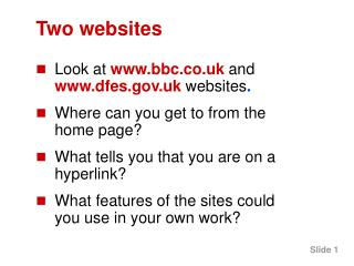 Two websites