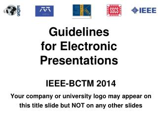 Guidelines for Electronic Presentations