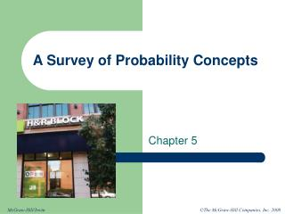 A Survey of Probability Concepts