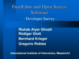 Free/Libre and Open Source Software