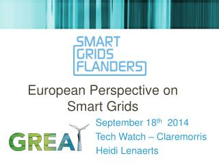 European  Perspective  on Smart  Grids