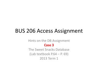 BUS 206 Access Assignment