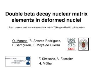 Double beta decay nuclear matrix elements in deformed nuclei