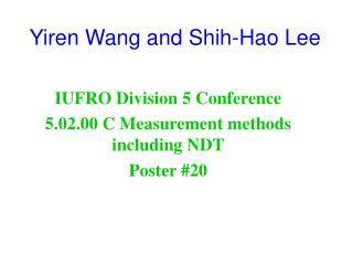 Yiren Wang and Shih-Hao Lee